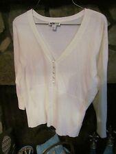 Women's Sweater Size L White/Off White Very Nice Classy I.N. Studio Brand