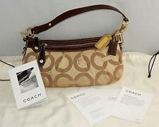 NEW COACH MADISON SIGNATURE OP ART LOGO H0873-12950 HOBO PURSE BAG PINK INTERIOR
