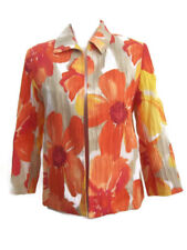 Alfred Dunner Petite Womens Dress Jacket Orange Yellow Floral Easter Spring 6P