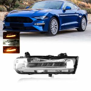 Fog Light For 2018 2019 2020 Ford Mustang LED DRL W/Turn Signal Driver Left Side