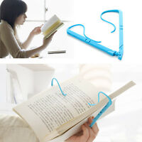 1*Easy Hands Free Travel Reading Tool Foldable Book Holder Holds Pages Open Clip