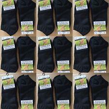 48 paire de dames noir Trainer Liner Chaussettes Coton Taille 4-8 En Gros Job Lot