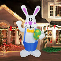 6ft Giant Inflatable Easter Bunny Blow Up Rabbit Build-in LEDs Lawn Ornament