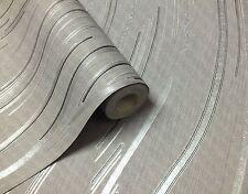 NEW Grey, Black and Silver With Glitter, Modern Design, Blown Vinyl Wallpaper