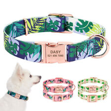 Personalized Pet Dog Collar Adjustable Nylon Durable Pet Puppy ID Name Collars