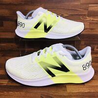 New Balance FuelCell 890 V8 (Men's Size 11.5 D) Sneakers White/Lemon Slush Shoes