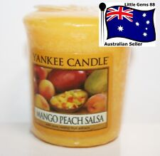 YANKEE CANDLE Votive Candle Mango Peach Salsa 15 HOURS BURNING * SCENTED CANDLE