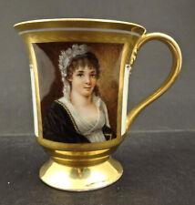 Antique Royal Berlin Portrait Cup, c 1815