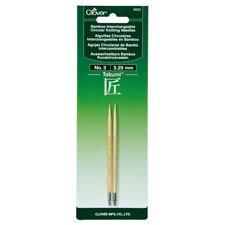 New - Interchangeable Circular Knitting Needles by Clover - No. 3 - #3633