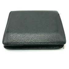 Auth Louis Vuitton Wallet Purse Bifold Taiga Black (Junk treatment)