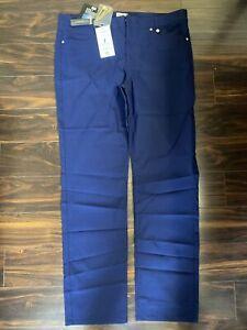 NWT Golfino Ladies Light Techno Stretch Trouser 8269322 575 Navy Sz 18 NEW