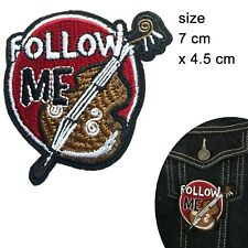 Violin Iron on patch - orchestra first fiddle instrument music musician patches