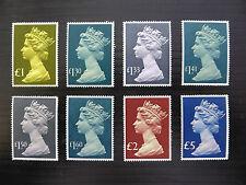 GB Machin 1977/87 to £5 (8) U/M SALE PRICE FP5820
