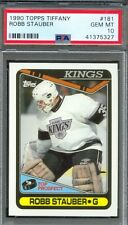 1990 Topps Tiffany #181 ROBB STAUBER Los Angeles Kings PSA 10 GEM MINT Pop 1