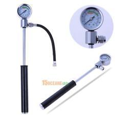Bicycle Pump With Gauge High Pressure Meter Shock Hand Bike Air Inflator