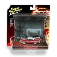 JOHNNY LIGHTNING 1:64 CHRISTINE PLYMOUTH FURY WITH GARAGE DIORAMA IN STOCK