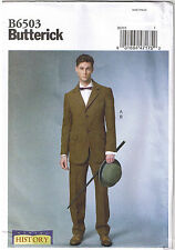 Mens Victorian Coat Cuff Pants Cosplay Butterick 6503 Sewing Pattern 46 48 50 52