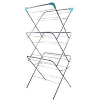 3 Tier Folding Winged Clothes Laundry Washing Drying Rack Airer Indoor Outdoor