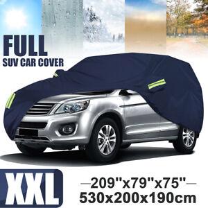 XXL Waterproof Full Car Cover For SUV Van Truck Outdoor Dust Sun Rain Snow 210T
