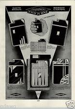 1933 PAPER AD 2 Sided Marathon Cigarette Lighter Case Art Deco Slyda Case