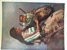 m17a1 ephemera 1920s book plate indian mother woman and her baby papoose