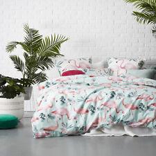 Home Republic Flamingo Mint Double Quilt Cover Set BNIB RRP $189.99