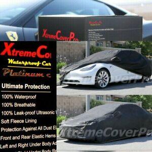 2018 2019 2020 2021 TESLA MODEL 3 WATERPROOF CAR COVER W/MIRRORPOCKET BLACK