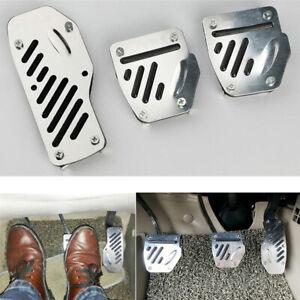 3x Car SUV Non-slip Foot Pedals Pad Cover For Brake Clutch Accelerator Non-slip