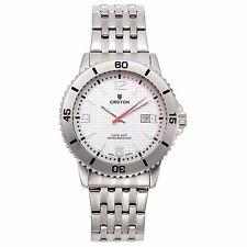 Croton Men's CA301288SSSL Quartz Stainless Steel Silvertone Rotating Bezel Watch
