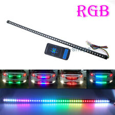 48SMD Colorful RGB LED Knight Rider Strip Light Bar Wireless Remote Grille Light