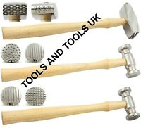 TEXTURING METAL HAMMERS 3 PCS 6 PATTERNS REPOUSSE JEWELRY SHAPING DESIGNING TOOL