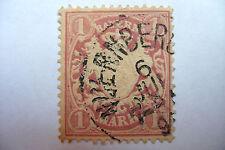 Bayern 1 Mark 1875 1879 ou 1881 ? oblitéré timbre ancien Bavière