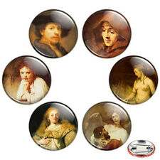 "Rembrandt Painting 1.25"" Pinback Button BADGE SET Novelty Pins 32 mm Mini Gift"