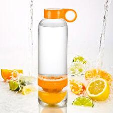 Citrus Zinger ORANGE Drinking Water Bottle Press Twist Infuse Flavour New