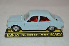 Norev 160 Peugeot 504 blue in mint condition with plint