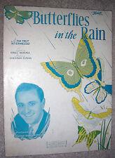 1932 BUTTERFLIES IN THE RAIN Vintage Sheet Music WAYNE KING by Myers, Reaves