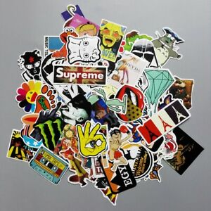 100pcs/lot Sticker Bomb Graffiti Vinyl Car Skate Skateboard Laptop Luggage Decal