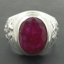 NATURAL RUBY HANDMADE Solid 925 Sterling Silver Men Ring