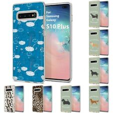 Thin Gel Design Phone Case Cover for Samsung Galaxy S10 Plus,Cats Stylish Print