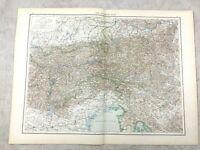 1895 Carte De Autriche The Alps Europe Ancien 19th Siècle Grand
