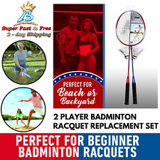 Backyard Game Pro Player One Size Badminton Sports Play Racquet Replacement Set
