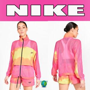 Nike Sportswear Women's Size Medium Mesh Watermelon Jacket CZ9098 684