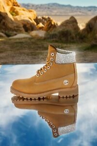 Timberland x Jimmy Choo Crystal Embellished Limited Edition Men's Boots US 9.5