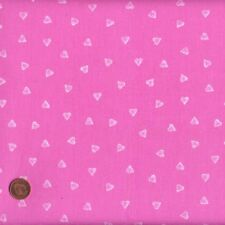 Textiles Français Pink Mini Hearts French Fabric 100 Cotton 140 Cm Wide