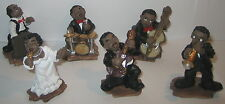 10x New Orleans Jazz Band Figuren Set, 6 teilig, Kunststein, 60 Figuren, 6x3x3cm