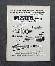 G900 - Advertising Pubblicità - 1964 - MOTTA GRILL SOMAGLIA CANTAGALLO TEANO
