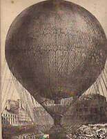 1878 Canadian Illus News - Monster Hot Air/Gas Balloon