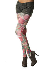 Red Rose Printed Tights