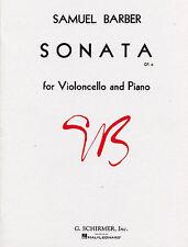 Samuel Barber Sonata Op.6 For Violoncello Piano Learn to Play Cello Music Book