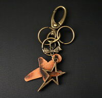 AuPra Super Star Keyring  | Leather Vintage Keychain | Key Ring Pendant Gifts